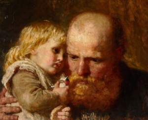 Father and Child by Karl Wilhelm Friedrich Bauerle (c) Cuming Museum